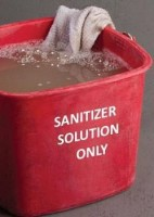 """Figure 1: Dirty Cloth Towel in Dirty """"Sanitizer"""" Solution"""