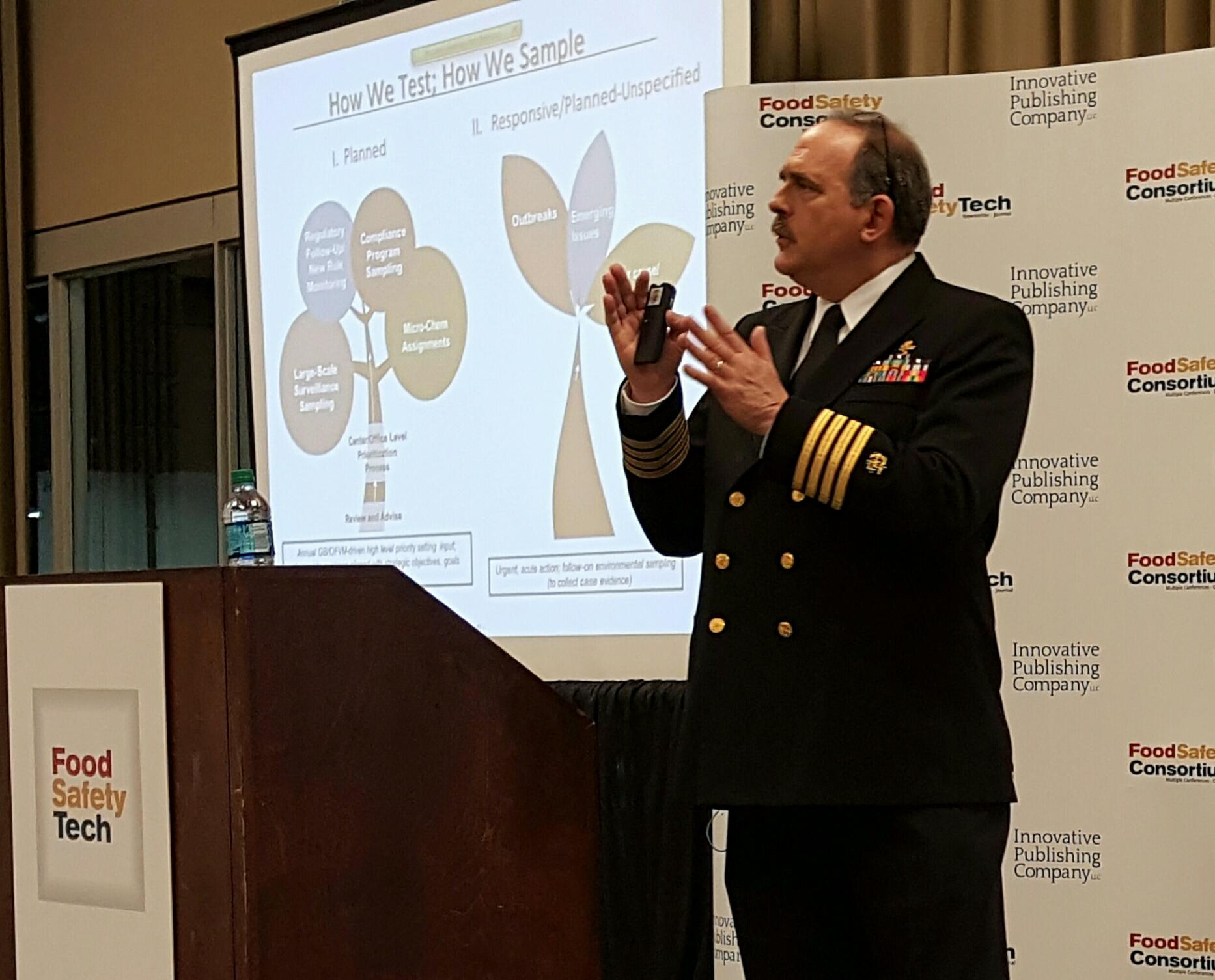 Palmer Orlandi, FDA, Food Labs conference