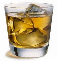 Scotch, ice cubes