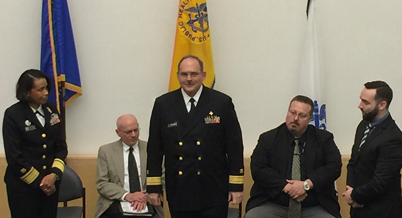 Palmer Orlandi, Ph.D., promoted to the rank of Rear Admiral and the U.S. Assistant Surgeon General.