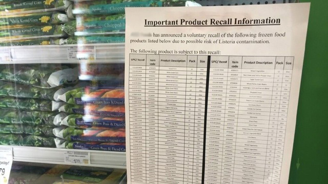 product recall sheet