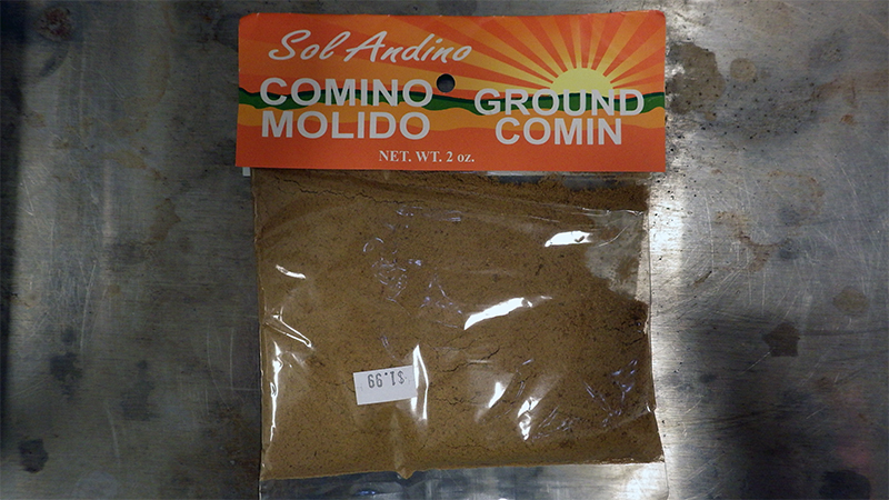 Sol Andino, ground cumin
