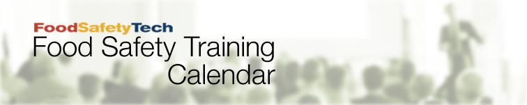 FoodSafetyTech's Food Safety Training Calendar