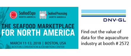 DNV-GL - Booth #2572 - The Seafood Marketplace for North America - March 11-13, 2018 - Boston, MA