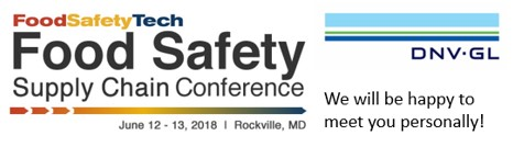 Food Safety Supply Chain Conference - June 12-13, 2018 - Rockville, MD