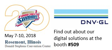 DNV-GL - Booth #509 - Food Safety Summit- May 7-10, 2018 - Rosemont, IL