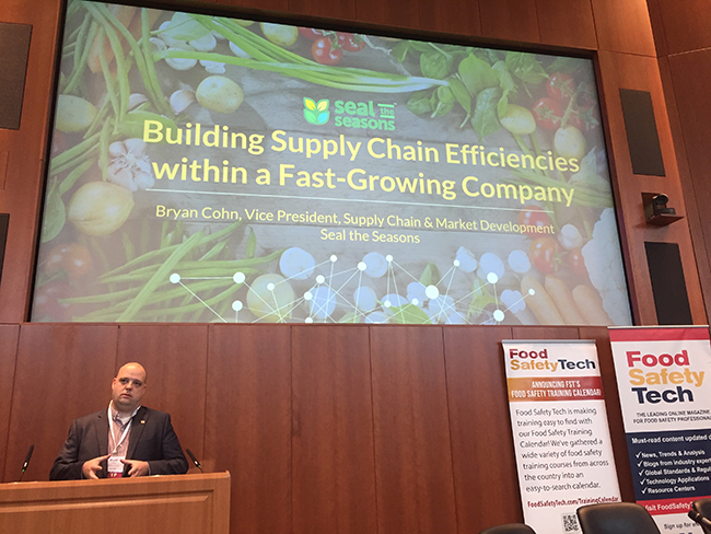 Bryan Cohn, 2018 Food Safety Supply Chain Conference