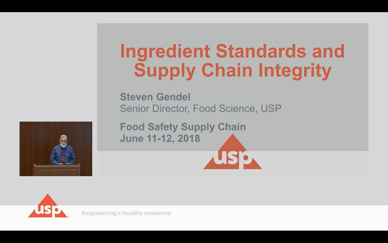 Ingredient Standards and Supply Chain Integrity Video