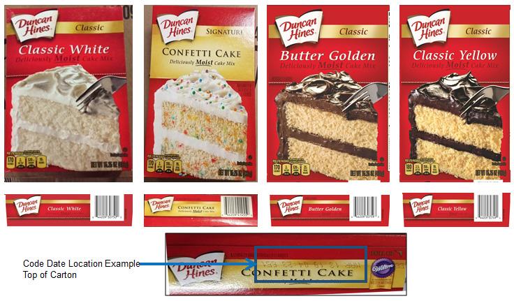 Duncan Hines cake mix, recall