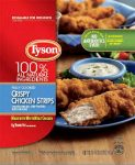 Tyson ready-to-eat chicken strips, May 2019 recall