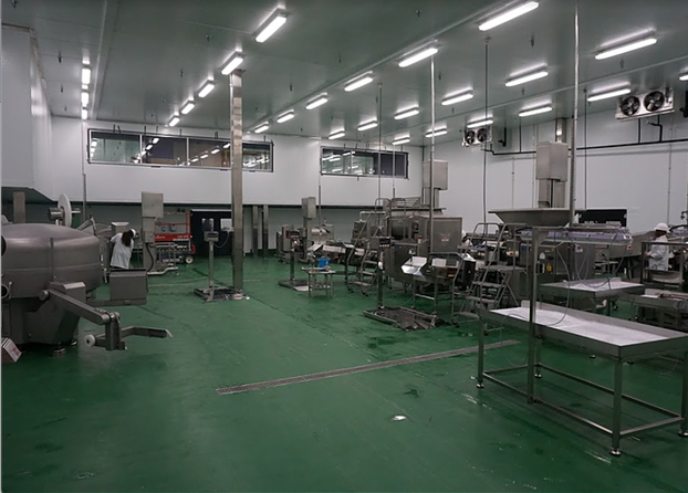 Food processing plant hygiene, flooring
