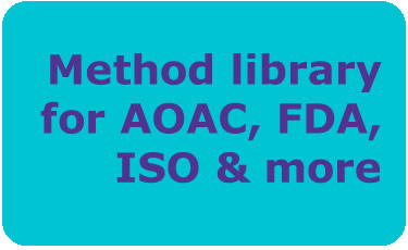 Method library for AOAC, FDA, ISO & more