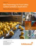 New Technology for Food Safety Surface Sanitation Applications